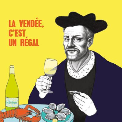 Carte postale Rabelais – Vendée
