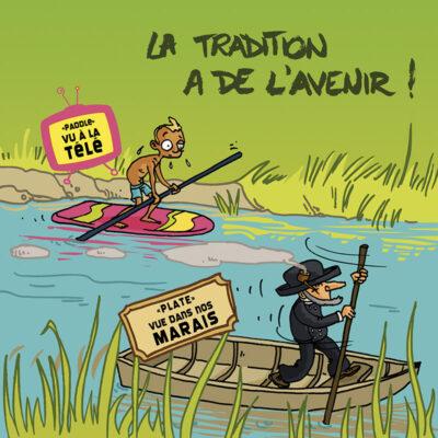 Carte postale paddle vs plate – Vendée