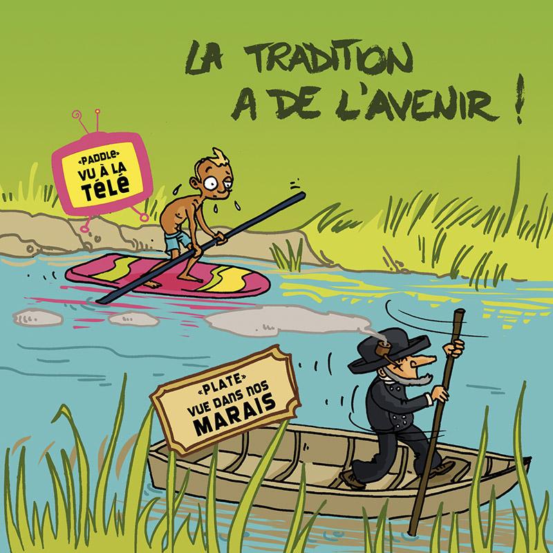 Carte postale, Carte postales, Cartes postale, Cartes postales, paddle, plate, Vendée, Humour, Image humour