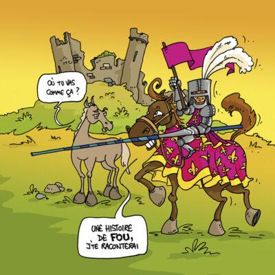 Carte postale chevalier vendéen – Vendée