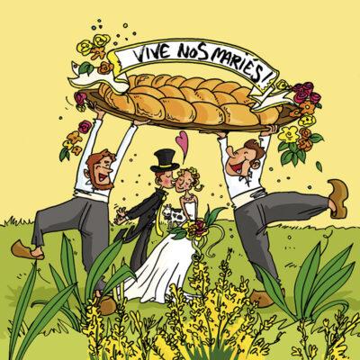 Carte postale mariés de Vendée