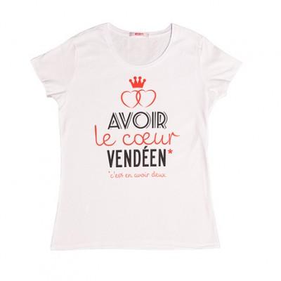 T-shirt femme cœur vendéen – Vendée