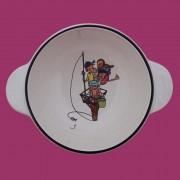 Bol à oreilles, bol en faïence, Vendée, bols en faïence, bols à oreilles, Noirmoutier