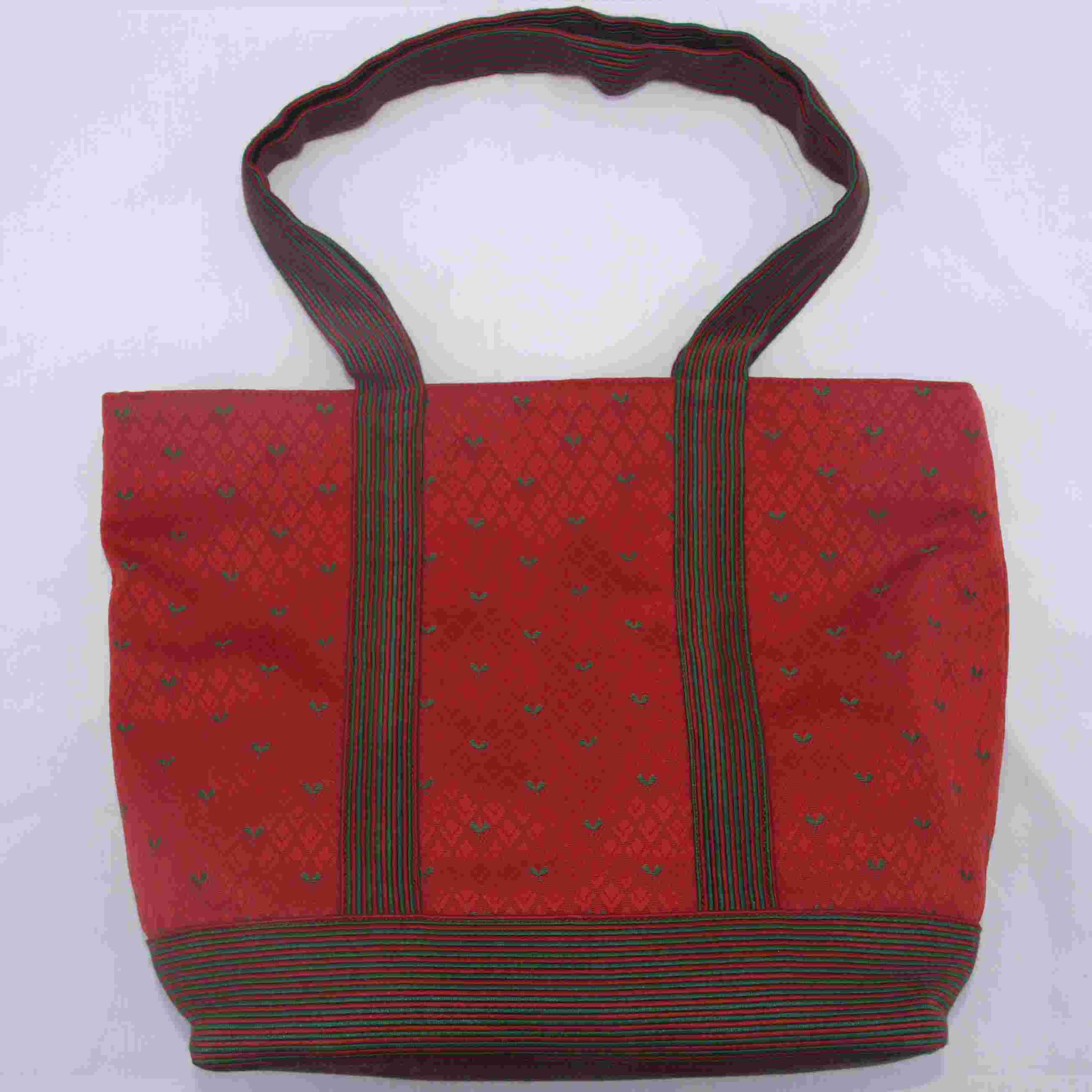 Sac à Main Artisanal Québec : Sac ? main artisanal toile classique rouge vend