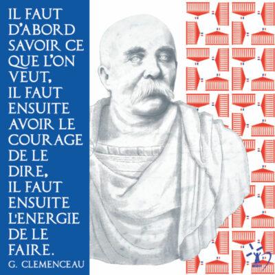 Carte postale Clemenceau Politicien