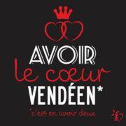 Double cœur, cœur vendéen, cœur de Vendée, carte postale, cartes postales, Vendée