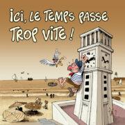 Carte postale, cartes postales, cartes postale, carte postales, polpino, pendule des Sables d'Olonne, Vendée, image humour, humour