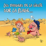 Magnet, Magnets, Polpino, La sieste, La plage, Vendée, image humour
