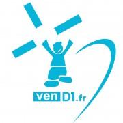 sticker autocollant voiture, stickers, autocollants, logo venD1, Vendée