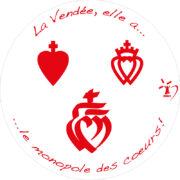 sticker autocollant voiture, stickers, autocollants, cœurs de Vendée, cœurs vendéens, Vendée, cœur vendéen