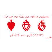 Sticker autocollant stop pub, stickers, autocollants, stops pub, cœurs vendéens, cœur de Vendée, Vendée