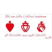 Sticker autocollant stop pub, stickers, autocollants, stops pub, cœurs vendéens, cœur de Vendée, Vendée, langage maraîchin