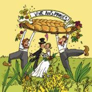 Carte postale, Carte postales, Cartes postale, Cartes postales, mariés de Vendée, brioche vendéenne, Vendée, Humour, Image humour