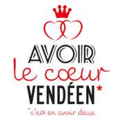 sticker autocollant voiture, stickers, autocollants, cœurs de Vendée, cœurs vendéens, Vendée