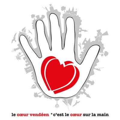 Carte postale cœur vendéen sur la main –  Vendée