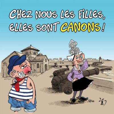 Carte postale canons – Polpino – Vendée